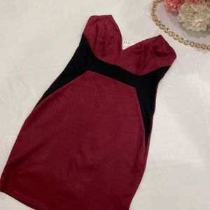 Tight fit two toned dress